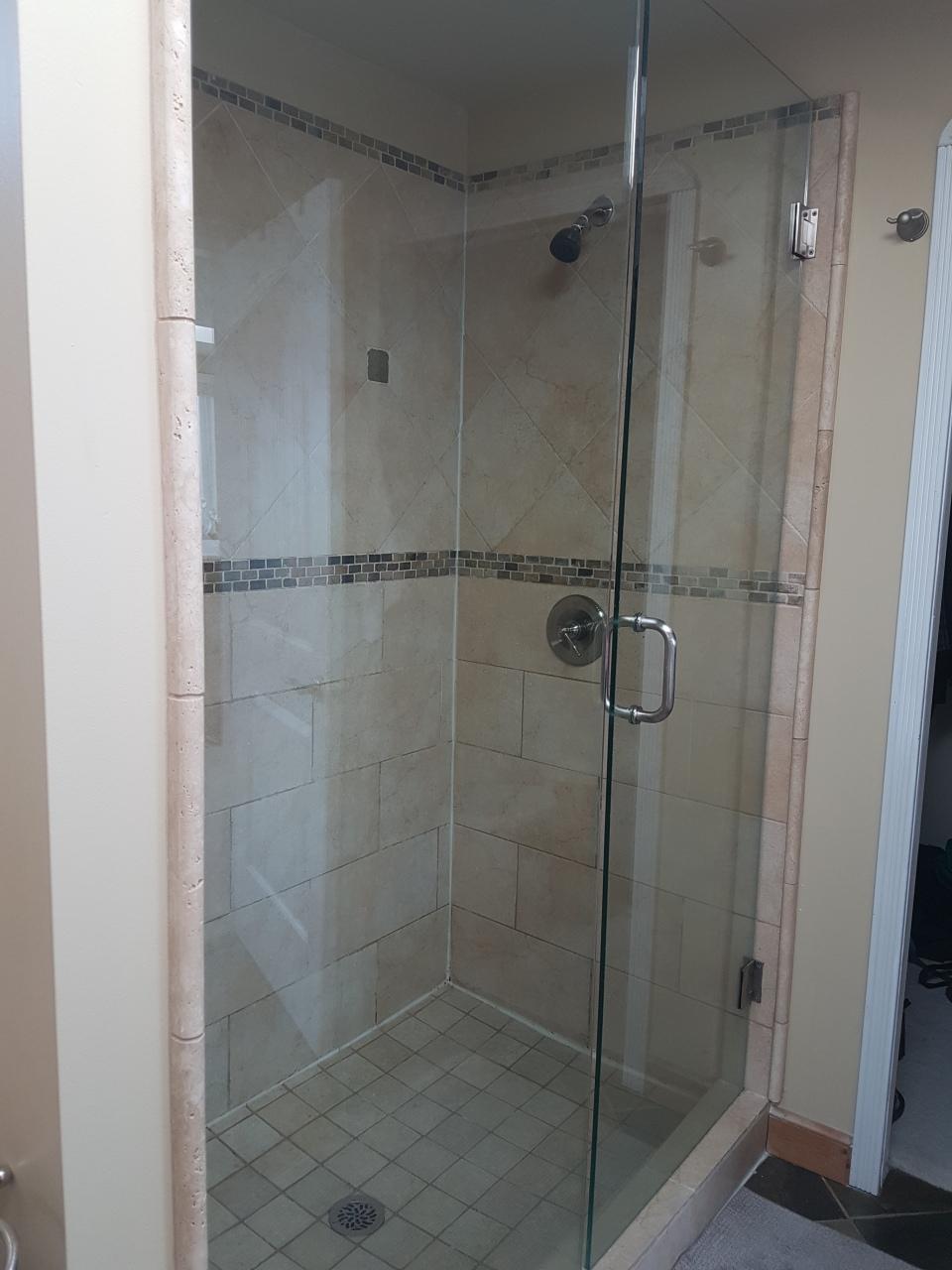 Bathroom shower doors closed