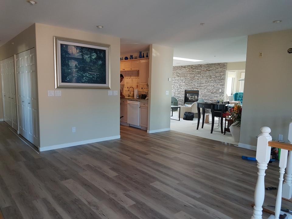 New floating floor
