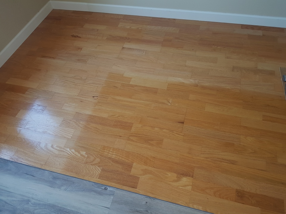 Sun damaged floor